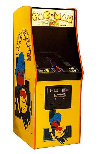 Pacman Arcade Machine Rental for trade show traffic builders