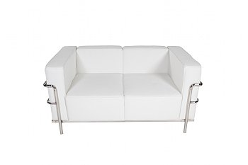 Trade Show Furniture Al White Sofa 2 Seat